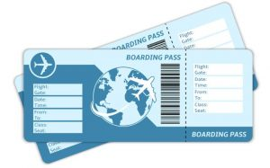 Image of two boarding passes