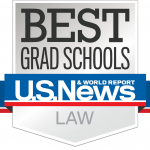 Logo of US News and World Report's Best Grad Schools Ranking - Law