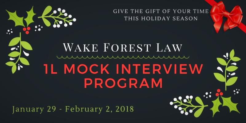 Graphic advertising the Mock Interview program outlined below. Give the Gift of Your Time this Holiday Season.
